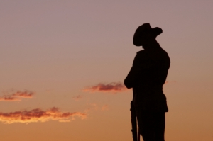 Soldier - ANZAC Day dawn service