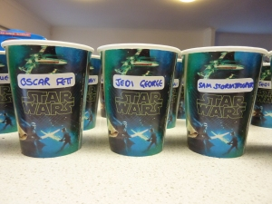 """Star Wars party cups"""